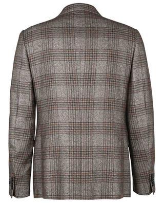 Checked silk and cashmere blazer ERMENEGILDO ZEGNA