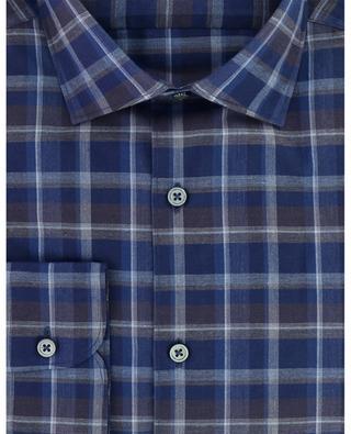 Tartan patternded cotton shirt ERMENEGILDO ZEGNA