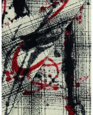 Écharpe en laine vierge et cachemire motifs abstraits Miro FALIERO SARTI