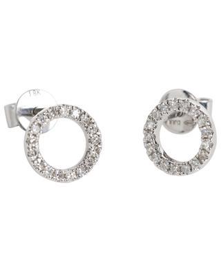 Clous d'oreilles en or blanc et diamants Mini Cercle DJULA