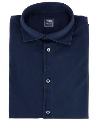 Jason long-sleeve barrel cuff cotton shirt FEDELI