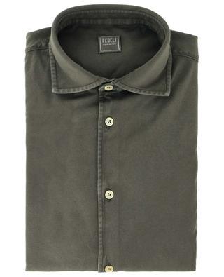 Long-sleeve barrel cuff cotton shirt FEDELI