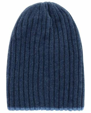 Double reversible ribbed cashmere beanie FEDELI
