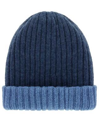 Wendbare Mütze aus geripptem Kaschmir Double FEDELI