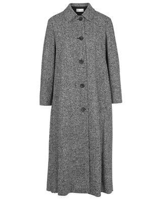 Manteau évasé à macro chevrons détail plis RED VALENTINO
