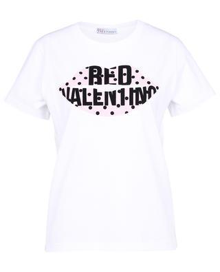 T-shirt en jersey imprimé pois Lips RED VALENTINO