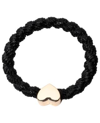Structured scrunchie with heart pendant BYELOISE