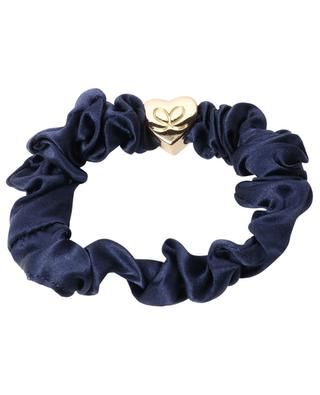 Silk scrunchie with heart pendant BYELOISE