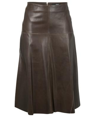 Fairchild A-lined leather midi skirt ARMA