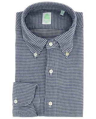 Gaeta Fit Leonardo gingham check flannel shirt FINAMORE