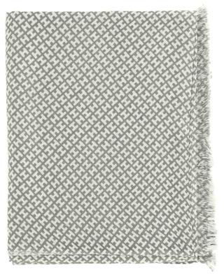 Monogramm-Schal aus Kaschmir und Seide Bademedium-BCS HEMISPHERE