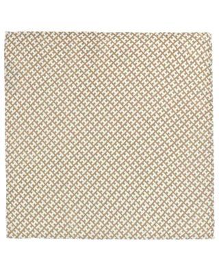 Bademini-CS monogrammed cashmere and silk pocket square HEMISPHERE