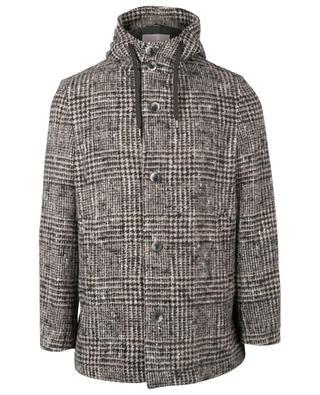 Manteau à capuche en laine et alpaga mélangés HERNO