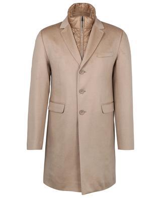 Einreihiger Mantel aus wasserabweisendem Kaschmir Pure Cashmere HERNO