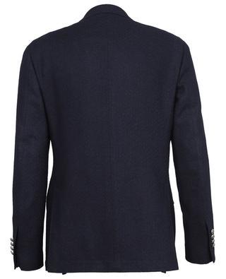 Tessuto Esclusivo dot textured double-breasted blazer LARDINI