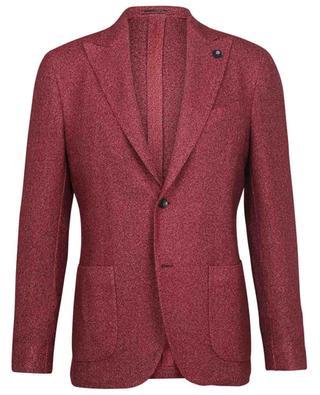 Piqué effect mottled cashmere and silk blazer LARDINI