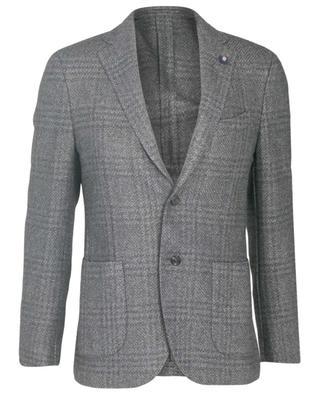 Wool blend glen check blazer LARDINI