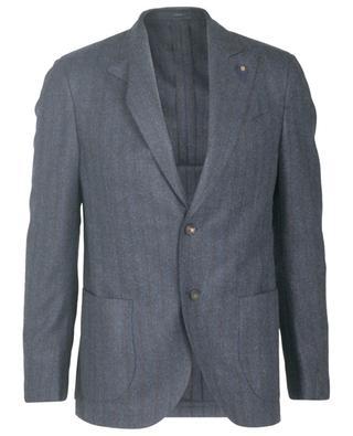 Wool single-beasted striped blazer LARDINI
