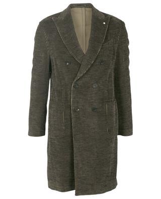 Double-breasted corduroy coat LARDINI