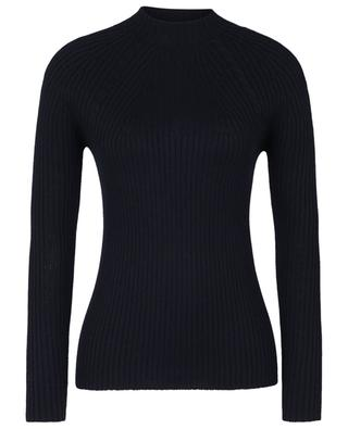 Lupetto rib and cable knit sheath jumper with mock neck GRAN SASSO