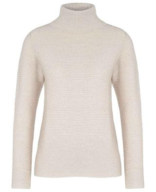 Lupetto turtleneck jumper with textured stripes GRAN SASSO