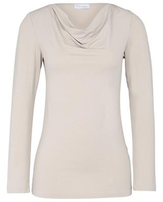 Long-sleeved T-shirt with cowl collar GRAN SASSO