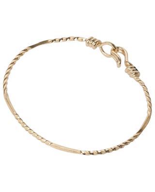 Damya gold-plated bangle with hook fastening MONSIEUR PARIS