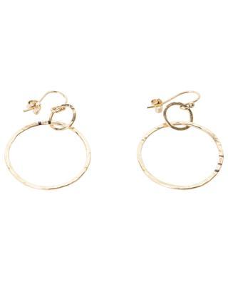 Bo Lola gold-plated hoop dangle earrings MONSIEUR PARIS