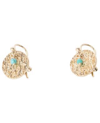 Puces Rift gold-plated earrings MONSIEUR PARIS