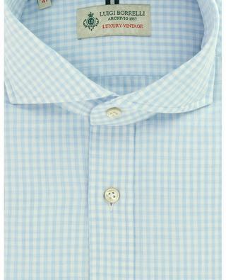 Hemd aus Baumwoll-Twill mit Vichy-Karos Felice LUIGI BORRELLI