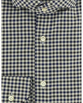 Felice bicolour gingham check twill shirt LUIGI BORRELLI