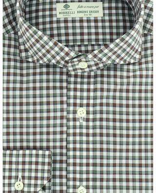 Felice tricolour checked poplin shirt LUIGI BORRELLI
