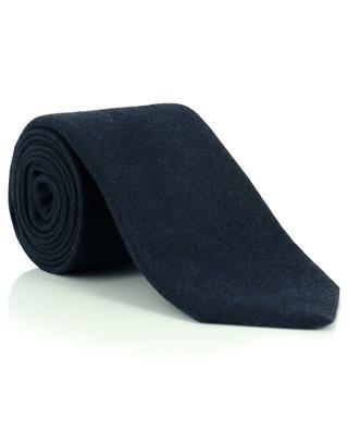 Cashmere, wool and silk twill monochrome tie LUIGI BORRELLI
