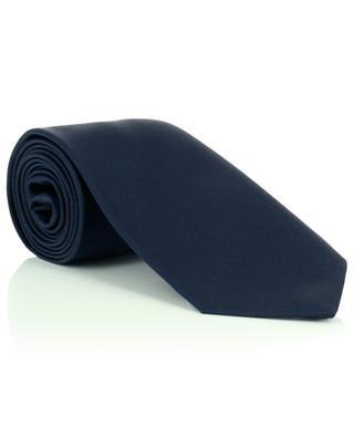 Einfarbige Krawatte aus Seidentwill LUIGI BORRELLI