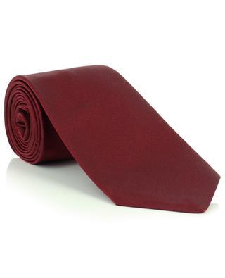 Monochrome silk twill tie LUIGI BORRELLI