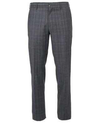 Pantalon slim à carreaux en laine Super 110's PT TORINO