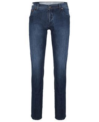 Tokyo Selvedge Copper denim slightly faded slim fit jeans RICHARD J. BROWN