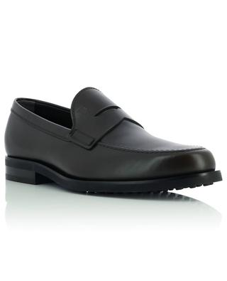 Formal smooth leather loafers with rubber sole TOD'S