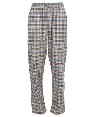 Checked cotton and wool blend flannel pyjama trousers ZIMMERLI