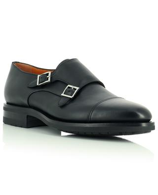 Monkstrap smooth leather shoes SANTONI