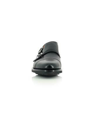 Chaussures en cuir lisse à double boucle SANTONI