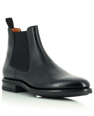 Croco effect leather Chelsea booties SANTONI