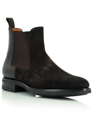 Suede and leather Chelsea booties SANTONI