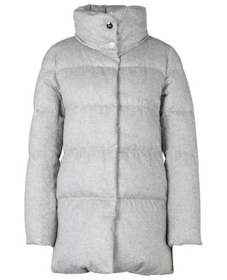 Button-down water repellend cashmere and silk down jacket HERNO