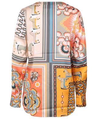 Patchwork print silk blouse HERZEN'S ANGELEHEIT