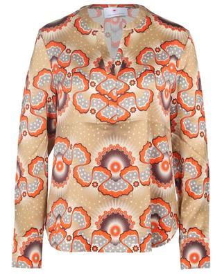 Star and cloud print silk blouse HERZEN'S ANGELEHEIT