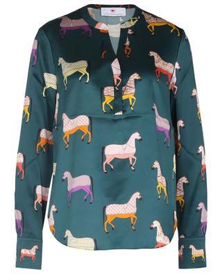 Silk-blend horse print blouse HERZEN'S ANGELEHEIT