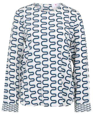 Printed silk crewneck blouse HERZEN'S ANGELEHEIT