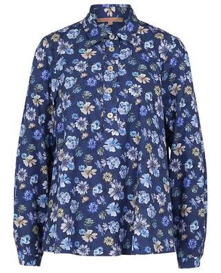 Blouse trapèze fleurie en coton léger LA CAMICIA