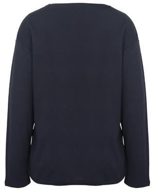 T-shirt à col rond en coton, soie et cachemire MAJESTIC FILATURES